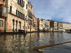 Grand Canal, Venice. View from a gondola. March 17