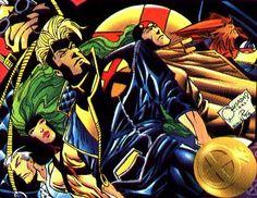 X-Factor in the 90's.  Art by Joe Queseda.