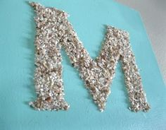 Decorative Ideas with Crushed Shells including letters! #DIY