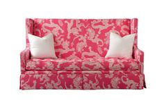 Lilly Pulitzer high back sofa,  perfect to copy in miniature for the dollhouse.