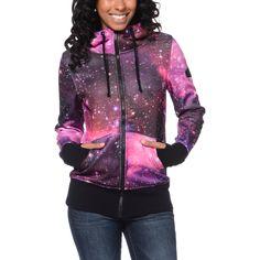 Glamour Kills Infinite Voyage Pink Tech Fleece Jacket at Zumiez : PDP