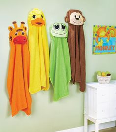Toddler Hooded Towels Giraffe Duck Frog or Monkey Bath Towel Embroidered - Bath Towel - Ideas of Bath Towel - Kids Animal Hooded Towels Giraffe. Duck Frog or Monkey Bath Towel Embroidered Kids Hooded Towels, Hooded Bath Towels, Monkey Bath, Animals For Kids, Cute Animals, Towel Animals, Baby Towel, Towel Set, Sewing Kids Clothes