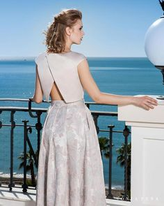 Party dress, Cocktail Dresses, Mother of the bride dresses. Complete Spring-Summer Balcón del Mar Collection Sonia Peña - Ref. Short Dresses, Formal Dresses, Bride Dresses, Party Dresses, Fashion Sewing, Mother Of The Bride, Lace Skirt, High Waisted Skirt, Bridesmaid