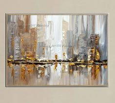 Original Hand Painted Modern Knife Building Scenery Oil Painting Wall Decor Street Landscape For Room Decor Painting On Canvas abstract art abstract tattoo China Painting, Oil Painting On Canvas, Canvas Wall Art, Home Pictures, Wall Art Pictures, Living Room Canvas, Art Decor, Room Decor, Decoration