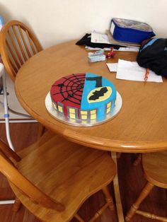 Son's birthday cake! First attempt at rolled icing!