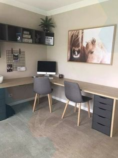 Desk with small drawer side., - Desk with small drawer side., Desk with small drawer side. Small Home Office Furniture, Home Office Setup, Guest Room Office, Home Office Space, Home Office Desks, Basement Home Office, Office Cubicle, Furniture Nyc, Bedroom Office