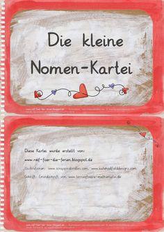 Deutsch in der Grundschule: Nomen-Kartei