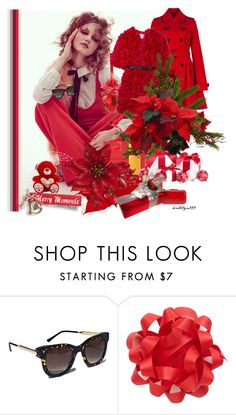 """""""Happy Holidays..."""" by katelyn999 ❤ liked on Polyvore featuring Thierry Lasry, red, reddress, holidaystyle and holiday2015"""