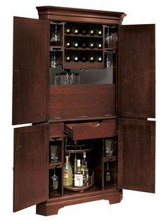 Painted Liquor Cabinet