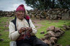 Knitting Man on Taquile Island by Marcel Gross on 500px
