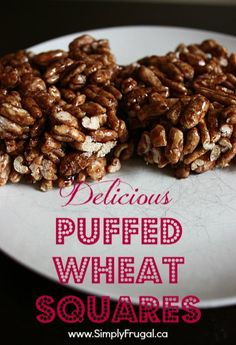 Delicious Puffed Wheat Squares (I totally did *not* eat half a tray of these yesterday)