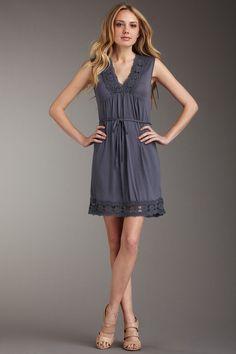 Dex Lace Trim Dress