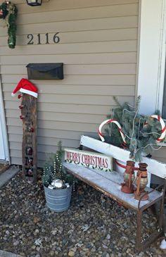 gartenbank weihnachtlich dekorieren veranda tannenbaum dekokissen g a r t e n. Black Bedroom Furniture Sets. Home Design Ideas