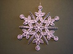 Look at the details on this quilled snowflake!  Perfect for our tree!