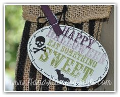 Spooky Treats Are Super Sweet With Paper Pumpkin kits http://www.handstampedstyle.com created this adorable gift and tag from the Oct. Kit!
