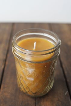 DIY: beeswax candle