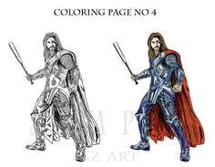Coloring Pages No 4 Comic Hero Caricature Original Art  by AszArt