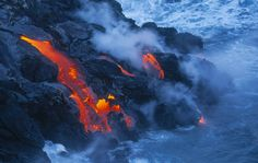 Hopefully you won't be this close when a volcano erupts! Explore some of the most awe-inspiring volcanic sights on your next trip to the Big Island. Many Keauhou hotels offer day trips to see popular local attractions such as this.