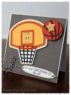 Cricut Basketball Card. Boys will be Boys Cartridge.  *