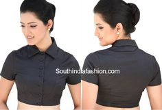 shirt_collar_neck_blouse_for_sarees