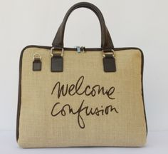 walcome bag handpainted www.parvares.com #madeinitaly #bag #fashion