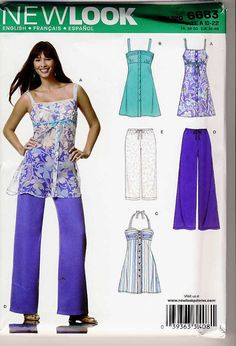 New Look 6683 Misses Long Summer Top 3 by Noahslady4Patterns