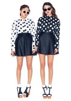 Black + White | Polka Dots    X