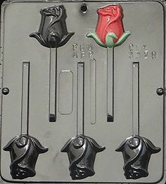 Rose Lollipop Chocolate Candy Mold 3328 *** You can get more details by clicking on the affiliate link Amazon.com.