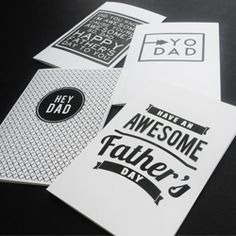 Grab these free printable graphic father's day cards - available in four designs. Come check it out!