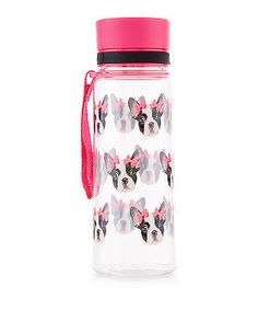Multicoloured French Bulldog Print Water Bottle  | New Look