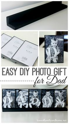 Photo Gift Idea For Dad... - I like the photo frame stand with matching frames