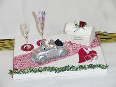 Geldgeschenke - Geldgeschenk, Geschenk für Hochzeit Brautauto rot - ein Designerstück von Festtags-Shop bei DaWanda