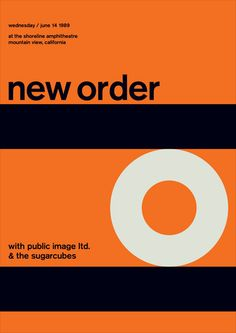 New order [Swissted poster] - Stereotype design c/o Print-Process