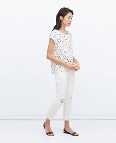 Image 1 of SHORT SLEEVE T-SHIRT from Zara