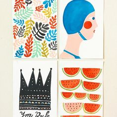 Small paintings on paper by Lisa Congdon // @lisacongdon