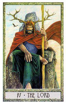 Druid Craft Tarot -- the Hierophant Jikiden Reiki, The Emperor Tarot, Le Tarot, The Hierophant, Tarot Major Arcana, Renaissance Artists, Oracle Cards, Tarot Decks, Archetypes