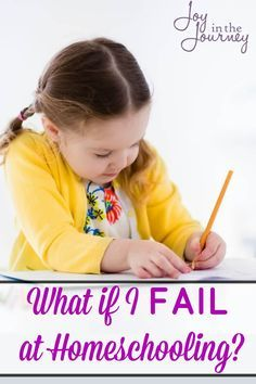 Have you considered homeschooling, but fear keeps getting in the way? Are you worried that you may fail at homeschooling? Can I encourage you of something today? You can do this!