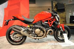 Ducati Monster 821 at the International Motorcycle Show in Portland, Oregon.