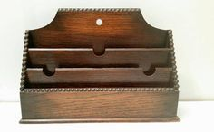 Letter Organizer, Letter Rack, Dark Mahogany, Desk Tidy, Wooden Posts, Wooden Letters, The Office, Traditional Design, Art Nouveau