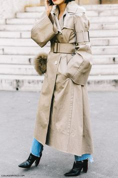 Oversized Trench, Raw Hem Jeans, Boots