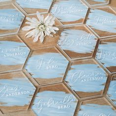 Hexagon Acrylic Place Cards Custom Painted Back First Wedding Name Cards, Wedding Wishes, Wedding Signs, Diy Wedding, Wedding Ideas, Wedding White, Elegant Wedding, Rustic Wedding, Wedding Flowers