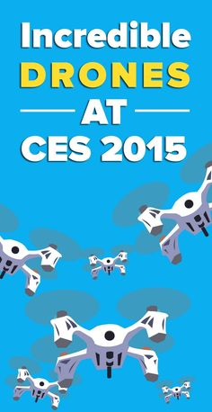 Drones: they come in all shapes and sizes. And they were all over CES this year. #CES2015
