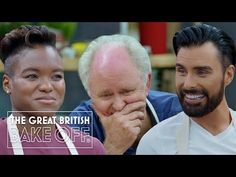 Mindblowing Celeb Bake Off creations from John Lithgow, James Acaster, Nicola Adams, Rylan & more! - YouTube British Baking Show Recipes, Prue Leith, John Lithgow, Paul Hollywood, Russell Brand, Uk Tv, Great British Bake Off, Famous Faces, Stand Up