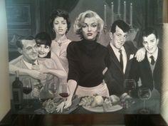 Black and White Oil Painting- Elizabeth Shafer