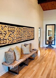 Creative Modern Decor With Afrocentric African Style Ideas Home Decor african home decor African Interior Design, Decor Interior Design, Interior Decorating, African Design, Decorating Apps, Global Decor, Global Home, Global Style, Ethno Design