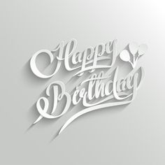 Illustration of Happy Birthday Hand Lettering Greeting Card. Text with Shadow vector art, clipart and stock vectors. Happy Birthday Hand Lettering, Happy Birthday Calligraphy, Happy Birthday Png, Happy Birthday Printable, Happy Birthday Best Friend, Happy Birthday Wishes Cards, Birthday Wishes Quotes, Happy Birthday Images, Birthday Greeting Cards