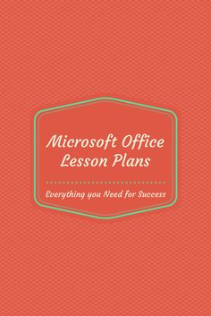 Where to find Microsoft Office Lesson Plans, how other teachers are using them, and how it is helping with student engagement. #LessonPlans #Education #MicrosoftOffice