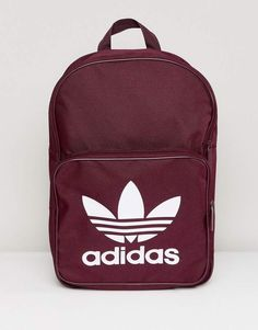ASOS adidas Originals Classic Backpack In Burgundy Found on my new favorite app Dote Shopping Emoji Backpack, Adidas Backpack, Adidas Bags, Backpack Bags, Adidas Shoes, Boys Backpacks, School Backpacks, Trendy Backpacks, Handbags On Sale
