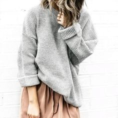 love this chunky ribbed sweater