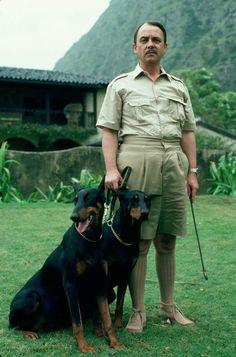 John Hillerman in Magnum P.with my beautiful doberman